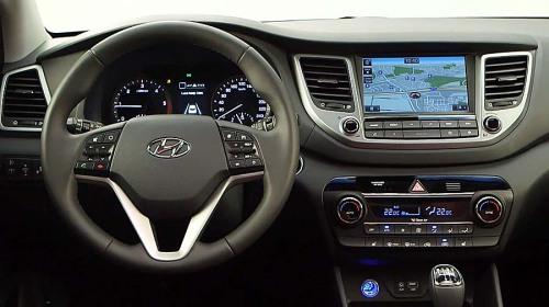 фото панели приборов Hyundai Tucson 2015-2016
