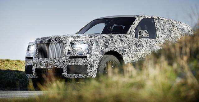 Rolls-Royce интригует внешним видом внедорожника Cullinan