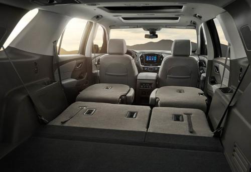 фото багажника Chevrolet Traverse 2017-2018